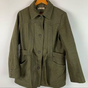 J Crew Womens Size Medium Wool Mid Length Coat